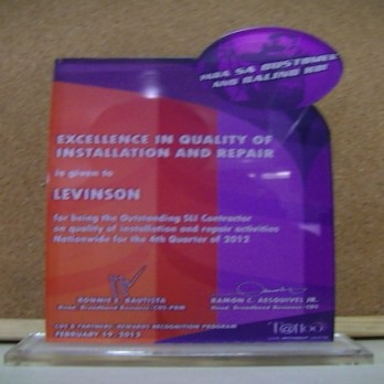 Globe Telecom Excellence in Quality of Installation and Repair 4th Quarter 2012