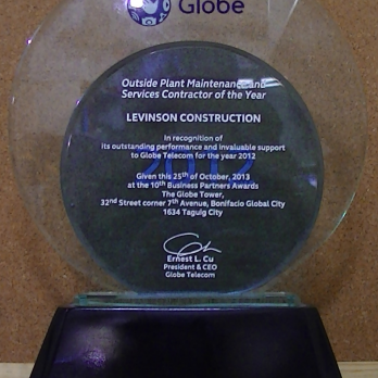 Outside Plant Maintenance and Services Contractor of the Year 2012