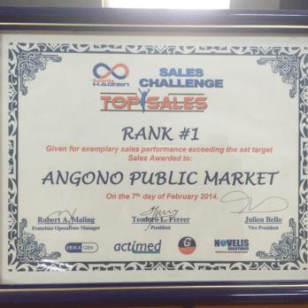 Sales Challenge Rank #1 Angono Public Market