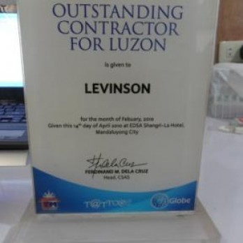 Outstanding Contractor for Luzon