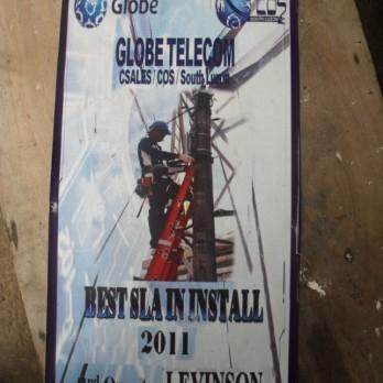 Globe Telecom Best SLA in Install 2nd Quarter 2011