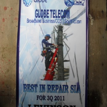 Globe Telecom Best in Repair SLA for 3Q 2011