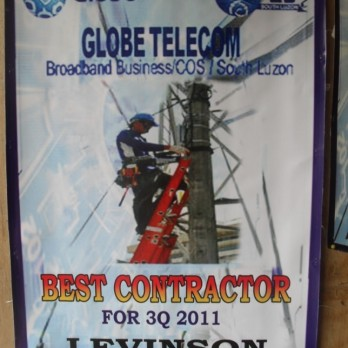 Globe Telecom Best Contractor fo 3Q 2011