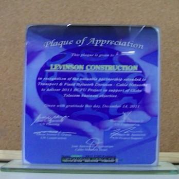 Plaque of Appreciation